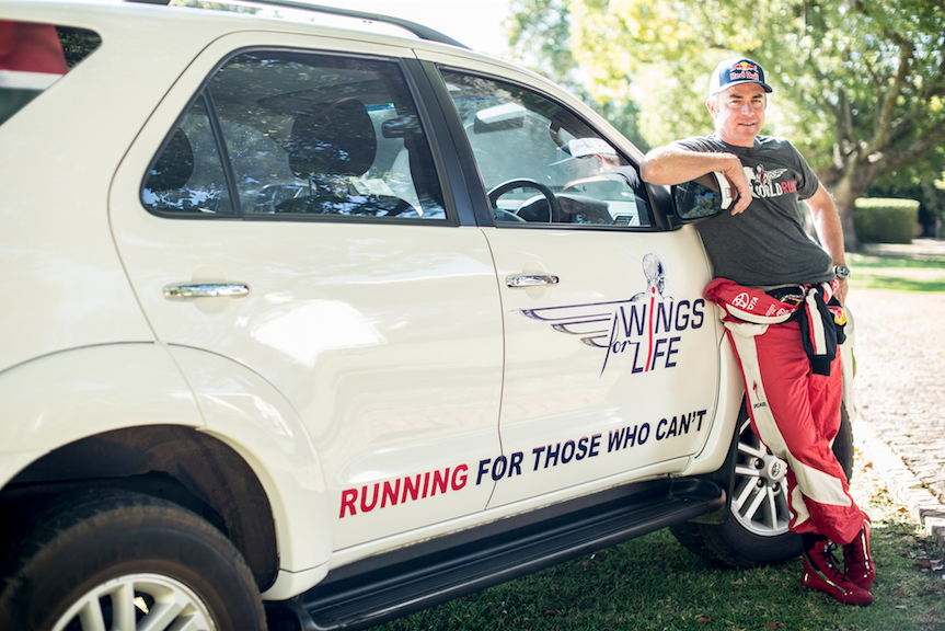 Giniel de Villiers Drives for Wings for Life