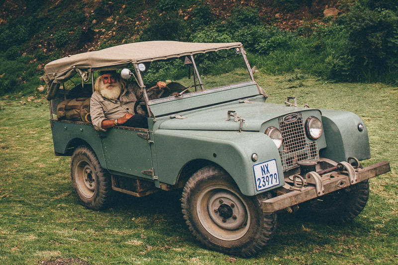 Kingsley Holgate in Land Rover