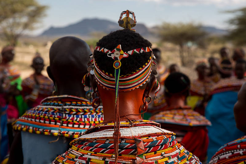 Samburu Lady with red-ochre painted neck