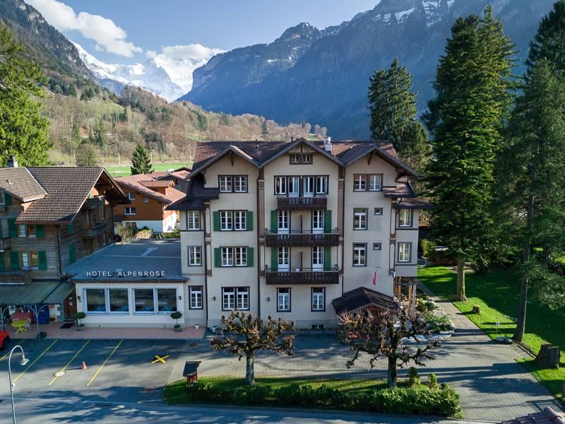 Enjoy Swiss hospitality at the beautiful Alpenrose Hotel & Gardens in Wilderswil