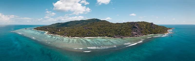 La Digue Island Drone Pano